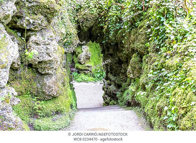 ENNISKERRY, CO. WICKLOW, IRELAND: Entrance to the Japanese gardens in the Powerscourt gardens