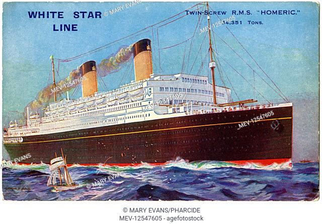 RMS Homeric, twin-screw cruise ship of the White Star Line