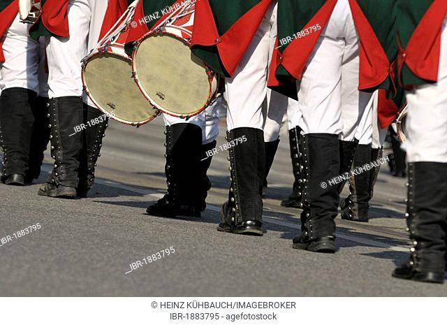 Margrave Hunters of Feuchtwangen 1967 e. V., Schuetzen- und Trachtenzug, Costume and Riflemen's Parade, for the opening of Oktoberfest 2010, Oktoberfest, Munich