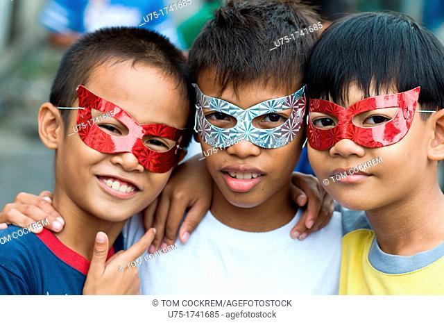 Children in Parian, Cebu City, Philippines