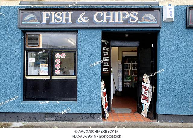 Fish and chips restaurant, Portree, Isle of Skye, Scotland