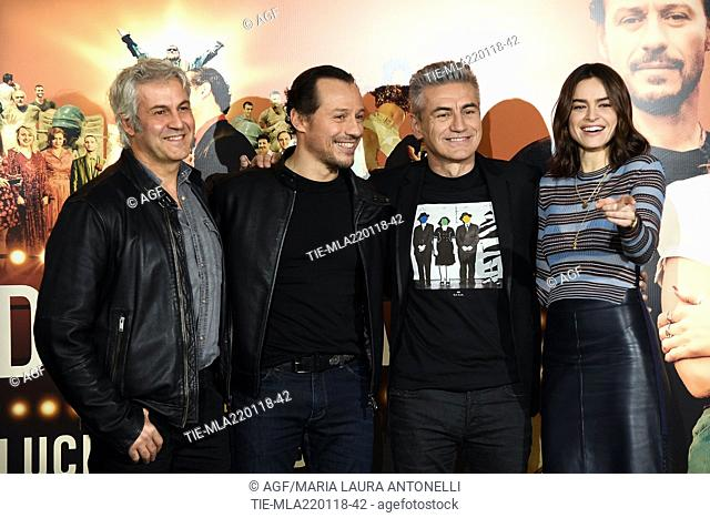 Domenico Procacci, Stefano Accorsi, Luciano Ligabue Kasia Smutniak during 'Made in Italy' film photocall, Rome, 22/01/2018