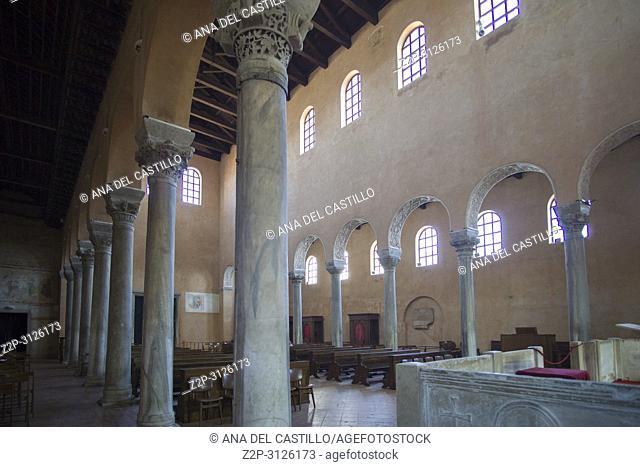 POREC CROATIA ON AUGUST 20, 2018: Euphrasian Basilica is UNESCO heritage site in Porec old town