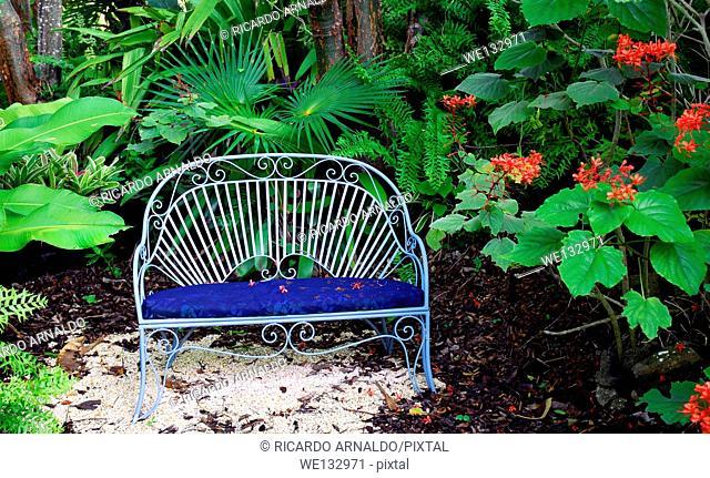 Blue Garden Seat