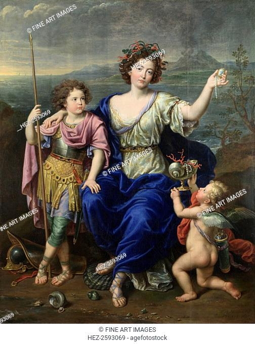 The Marquise de Seignelay and Two of her Sons, 1691. Found in the collection of the National Gallery, London