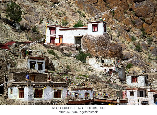 Monks houses. Hemis gompa. Indus valley, Ladakh (india)