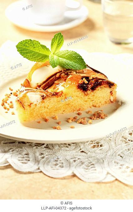 Cheese and chocolate sponge cake
