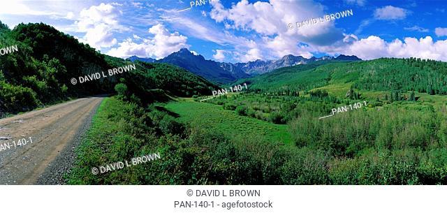 Road in San Juan Mountains, Colorado, USA