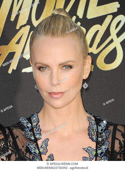 The 2016 MTV Movie Awards Featuring: Charlize Theron Where: Los Angeles, California, United States When: 10 Apr 2016 Credit: Apega/WENN.com