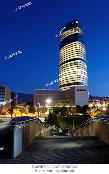 Iberdrola tower, Bilbao, Bizkaia, Spain