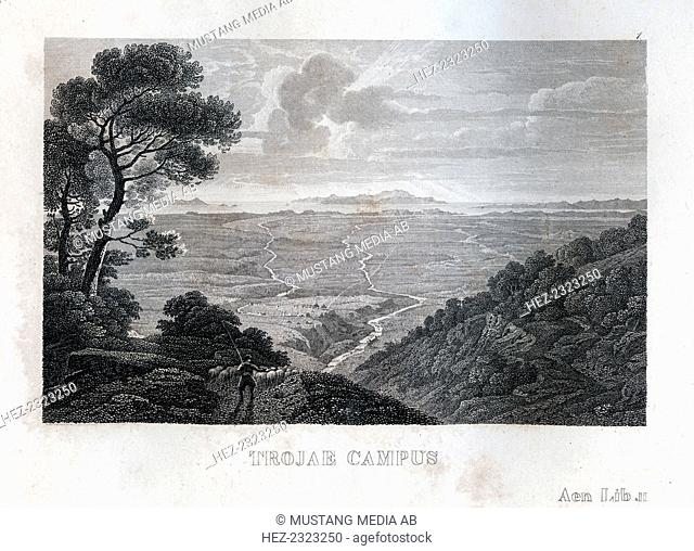 View over the fields of Troy, c1833