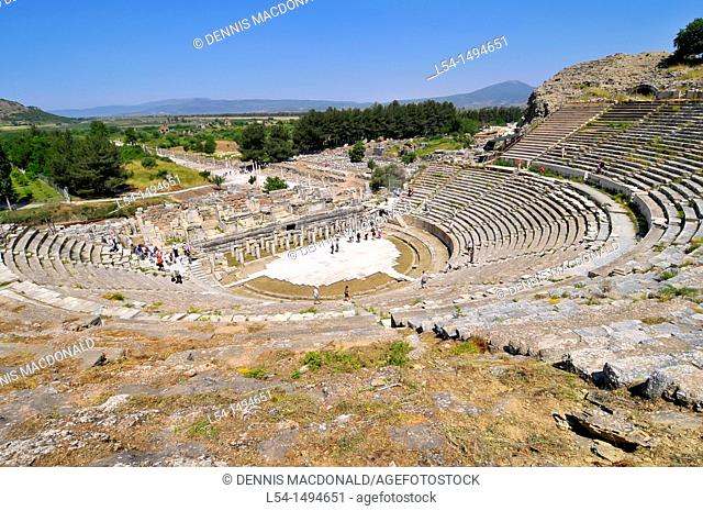 The Great Theatre Ancient Ephesus Turkey Kusadasi Aegean Mediterranean