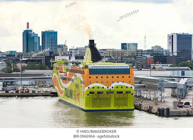 Ferry Superstar of AS Tallink Grupp in the port of Tallinn, Kesklinn, Tallinn, Estonia