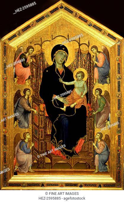 The Rucellai Madonna, ca 1285-1286. Found in the collection of the Galleria degli Uffizi, Florence