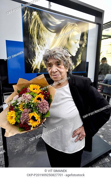 "Slovak photographer Zuzana Minacova (pictured) opens exhibition entitled """"Path to Freedom"""" in Prague, Czech Republic, September 25, 2019"