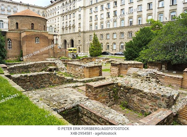 Church St. George Rotunda and Roman era ruins of Serdica, Sofia, Bulgaria