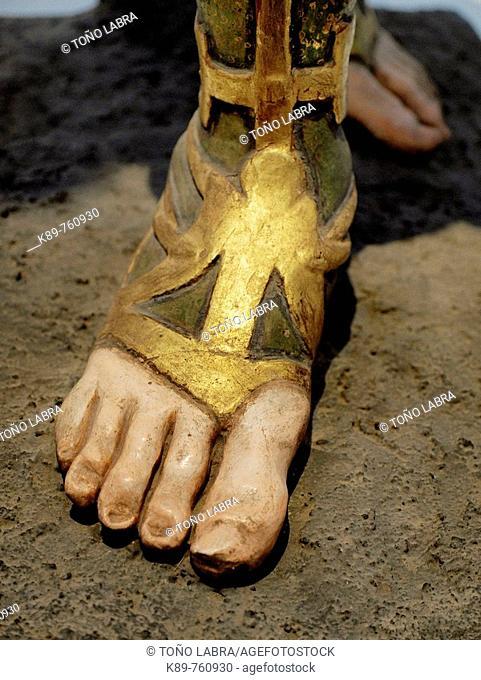 Archangel foot. Museo de las Intervenciones. Ciudad de México