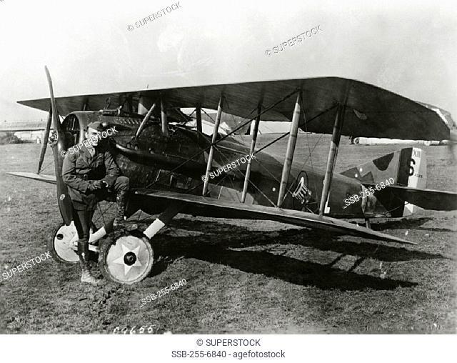 Eddie Rickenbacker France October 18, 1918 American Air Ace (1890-1973)