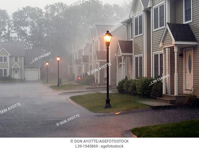 rain storm in South Hadley, MA, USA