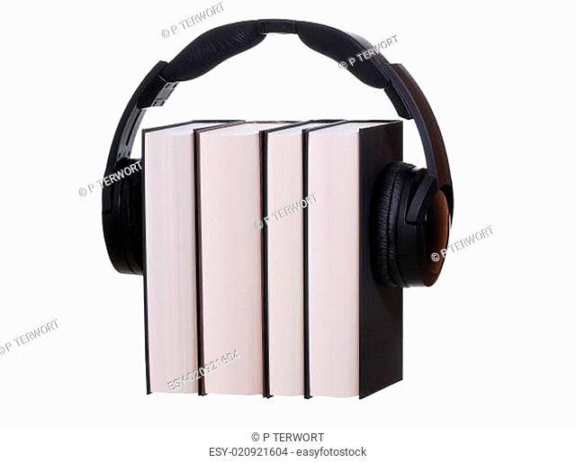 headphones with books