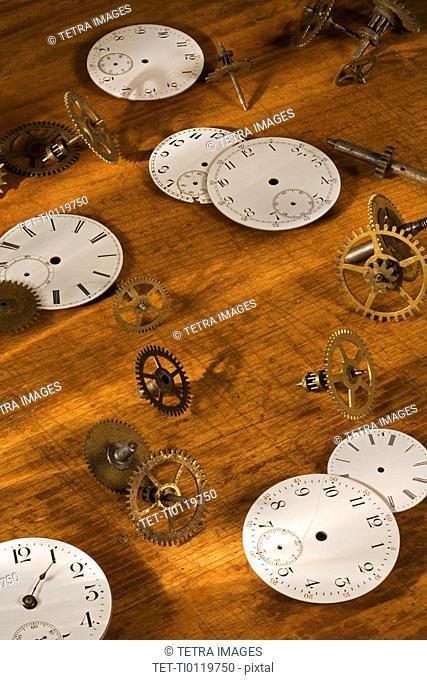 Still life of watch parts