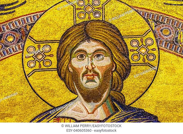 Jesus Christ Biblical Stories Mosaic Dome Bapistry Saint John Duomo Cathedral Church Florence Italy. Bapistry created 1000 1100, mosaics by Friar Jacobus 1200s