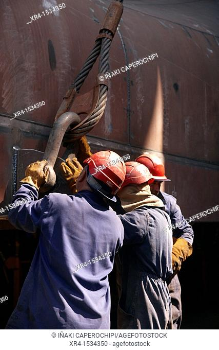 Balenciaga shipyards, Zumaia, Zumaya, Gipuzkoa, Guipuzcoa, Basque Country, Spain