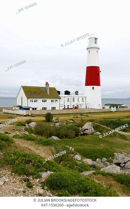 Portland Bill Lighthouse and keeper's cottage