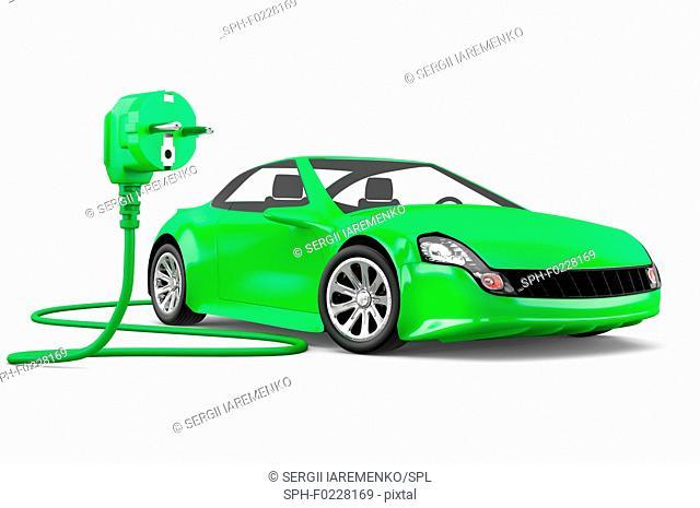 Electric car, illustration