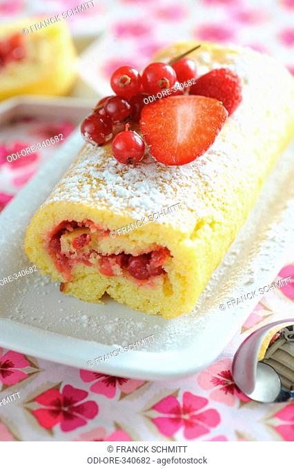 Fruit swiss roll