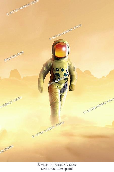 Mars exploration, computer artwork