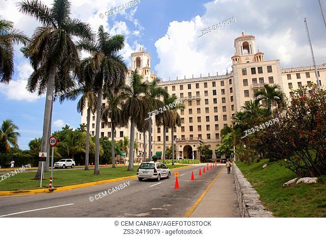 View to the Hotel Nacional in Vedado district, Havana, Cuba, West Indies, Central America
