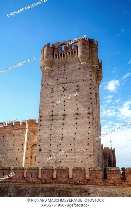 Castle of La Mota, built 12th Century, Medina del Campo, Valladolid, Spain