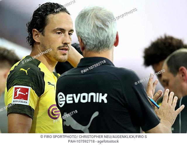 firo: 03.08.2018 football, season 2018/2019, 1.Bundesliga: BVB, Borussia Dortmund - Stade Rennes, training camp, test match, Thomas DELANEY