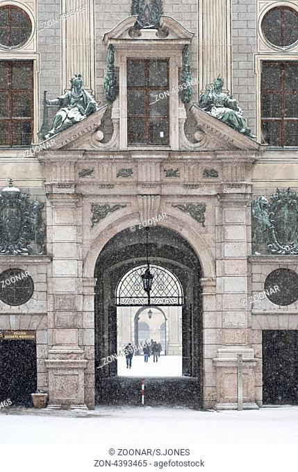 Munich Residence on a Snowy Day