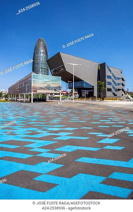 Spain, Catalonia, Barcelona City, Glorias Square, Agbar Tower