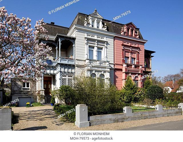Krefeld, Schönwasserstraße, Doppelvilla