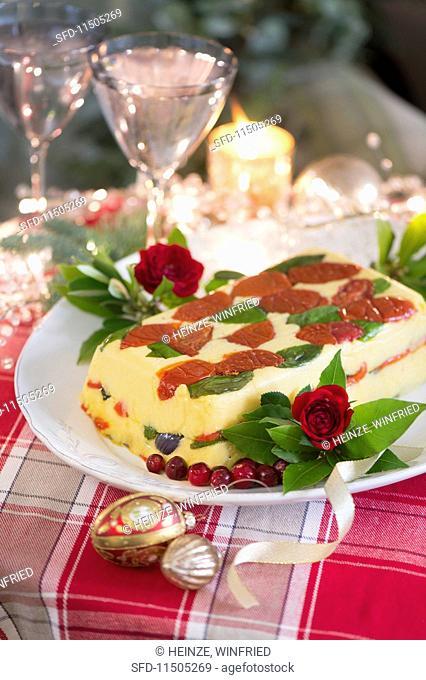 Vegetarian polenta terrine for Christmas
