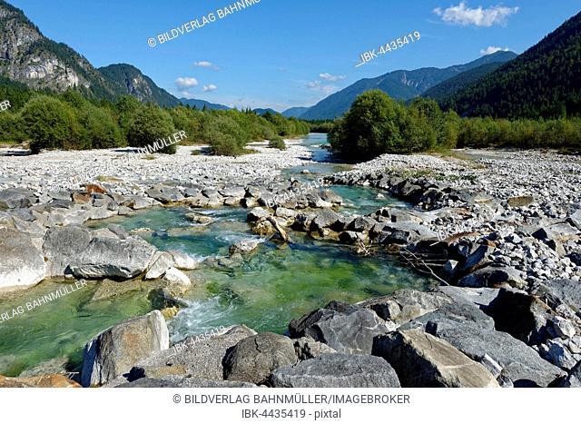 Upper Isar, Isartal Nature Reserve, Toelzer, Upper Bavaria, Bavaria, Germany