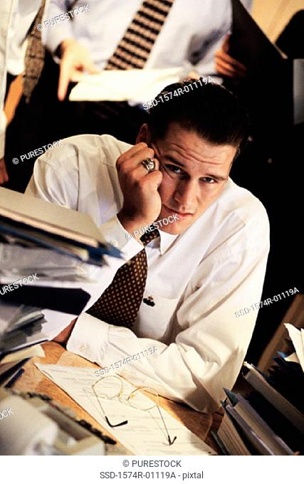 Portrait of a businessman in an office