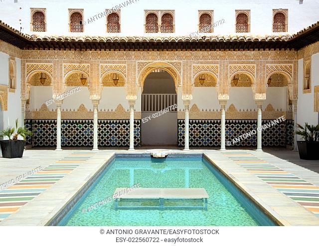 Famous Alhambra of Poble Espanyol in Palma de Mallorca, Spain