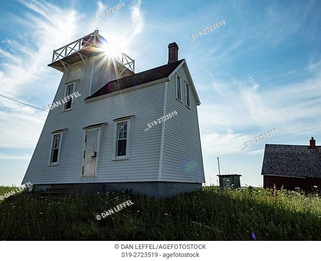North Rustico Harbor Lighthouse Prince Edward Island Canada