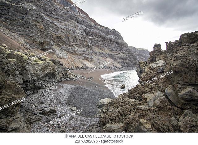 El Verodal beach in El Hierro Canary islands Spain
