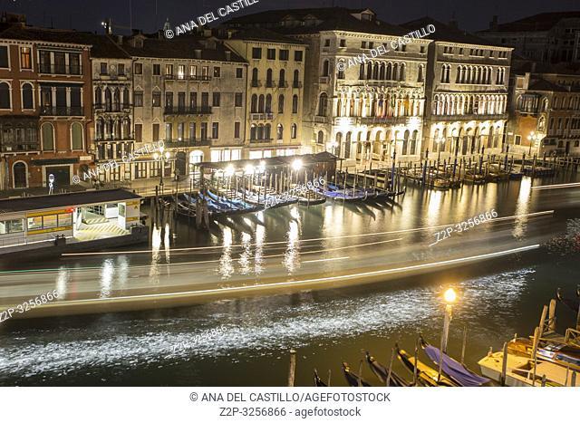 Venice, Veneto, Italy : Twilight at Grand Canal