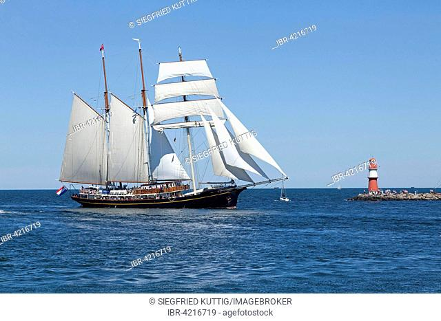 Sailboat, barque, Hanse Sail, Rostock, Mecklenburg-Western Pomerania, Germany