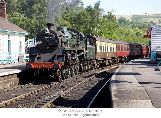 Grosmont Station North East Yorkshire Steam Railway UK July