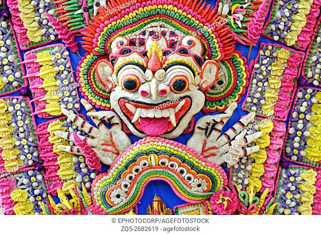 Indonesia-Bali, Colorful edible Decoration offered to the Temple