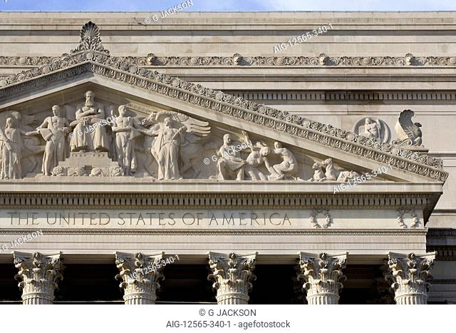 National Archives of the United States, Washington D.C. USA, Architects: Architects: John Russell Pope