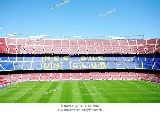 BARCELONA, SPAIN APRIL 26: FC Barcelona Nou Camp football stad