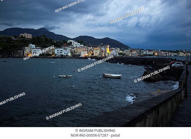 City at waterfront, Ischia Island, Campania, Italy